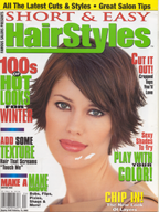 magazine cover of hair style by L Salon & Color Group stylist